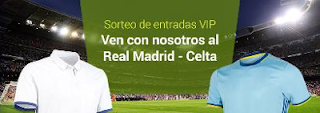 luckia Sorteo 2 entradas dobles VIP Real Madrid vs Celta 23-24 agosto