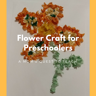 Tissue paper, kids crafts, flowers