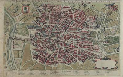 Mapa de Madrid en 1622