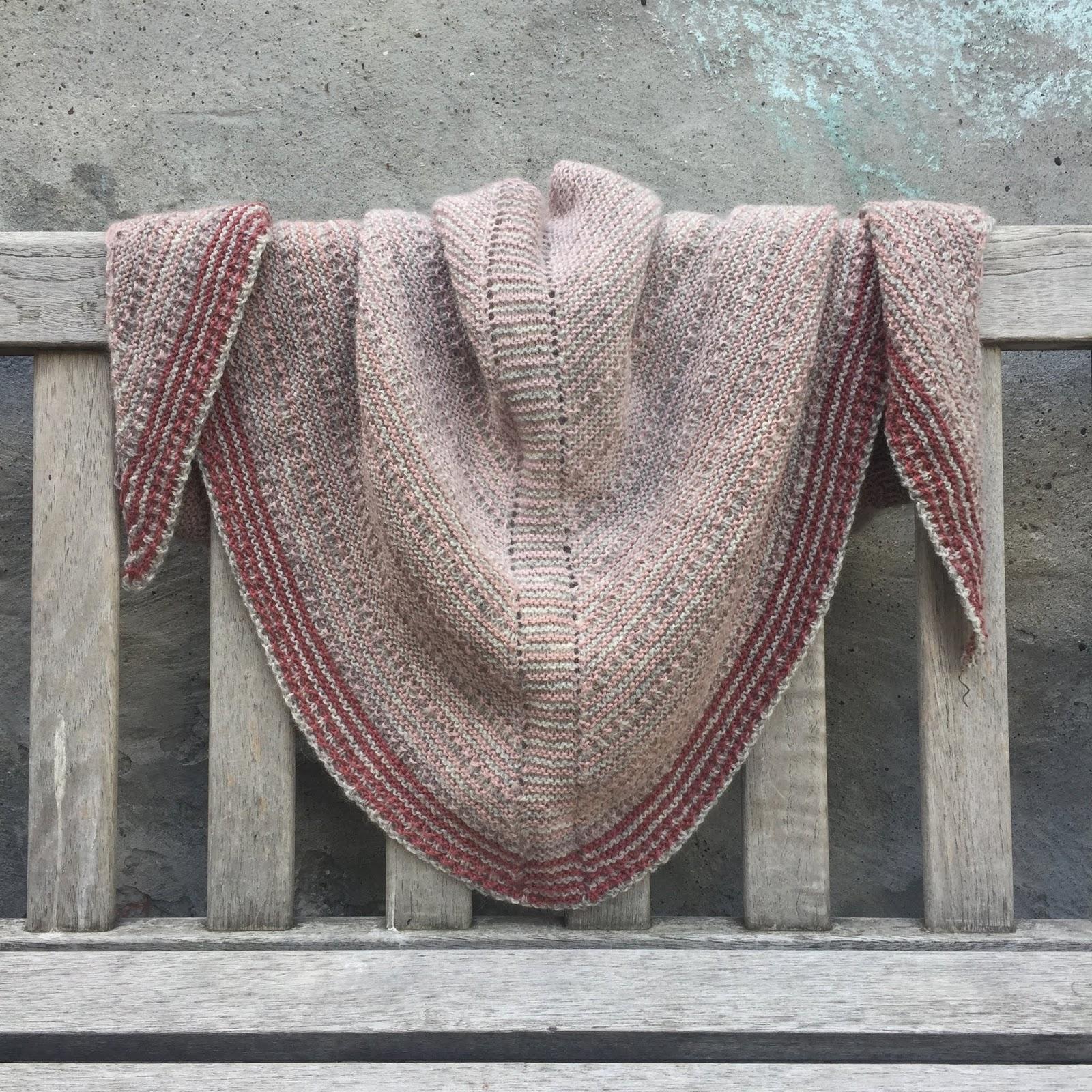 strikket sjal opskrift gratis