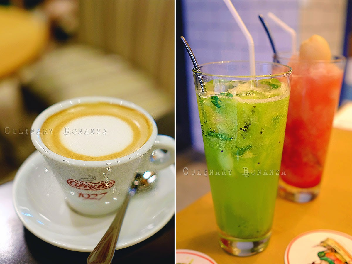 Left: Caramel Latte IDR 32,000 Right: Green Apple Kiwi IDR 32,000 | Cranberry Lychee IDR 30,000