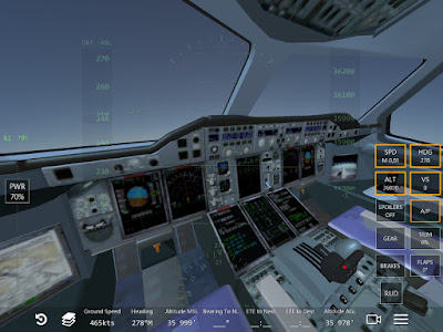 Copie écran du jeu Infinite Flight A380 Cockpit