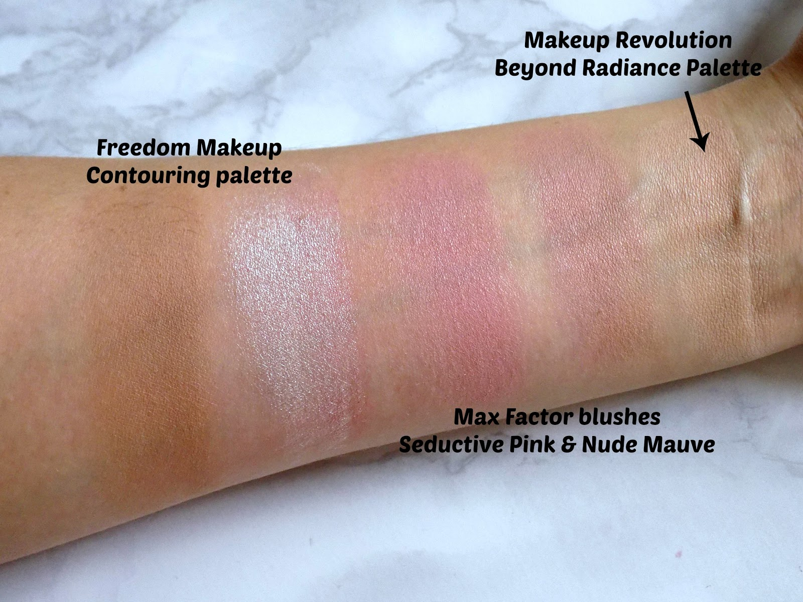 Freedom Makeup Pro Strobe palette swatches