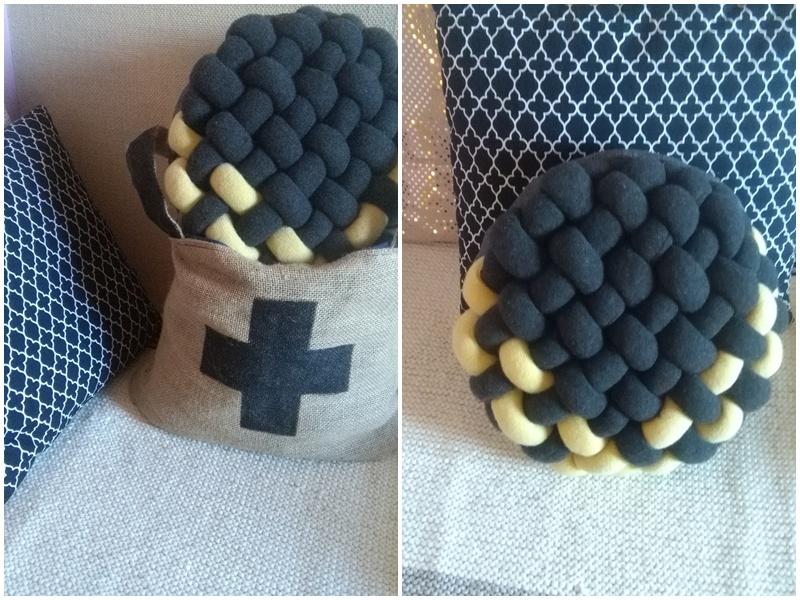 pleciona poduszka handmade