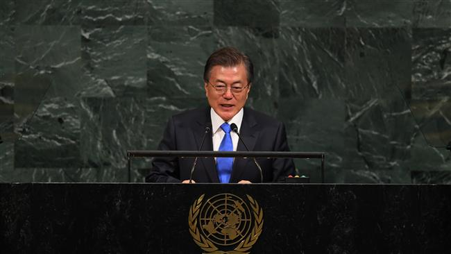 South Korean President Moon Jae-in urges North Korea to abandon nuclear program, seek talks