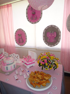 decoración baby shower niña
