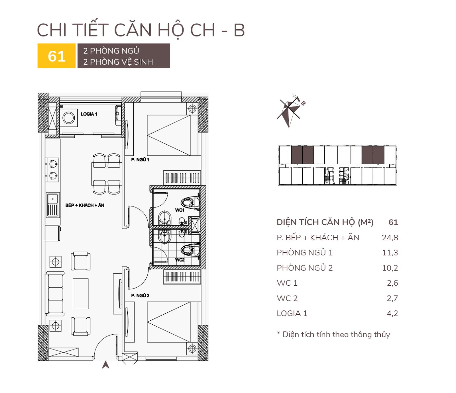Một mẫu căn hộ tại dự án AQH Riverside.