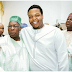 Engr. Aham Okorocha, the son of Gov. Okorocha of Imo State, poses with Obasanjo during Sokoto Durbar (PHOTO)