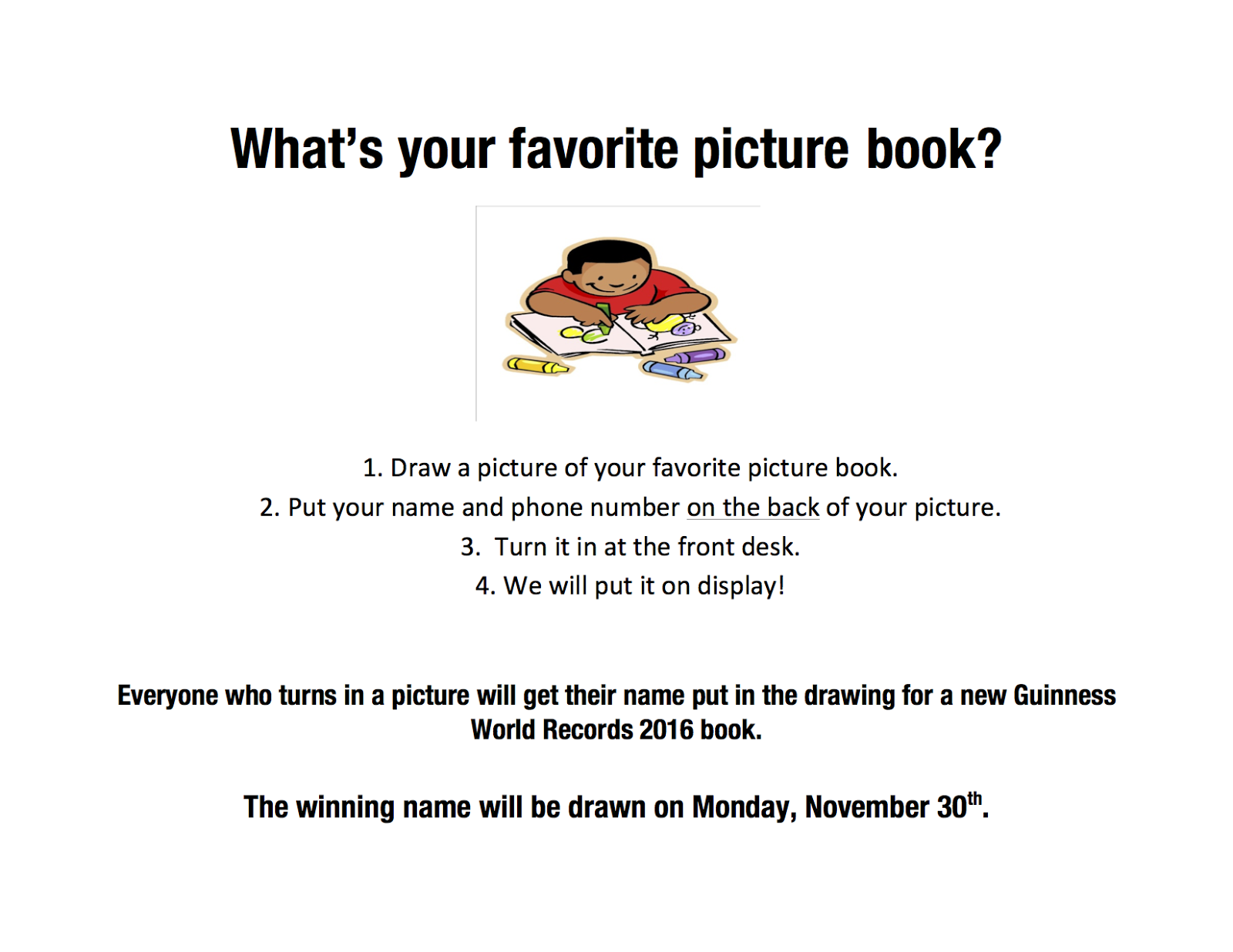 Sturgis Public Library: Draw a picture of your favorite
