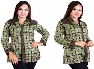 Model Baju Batik Kerja Wanita Modern