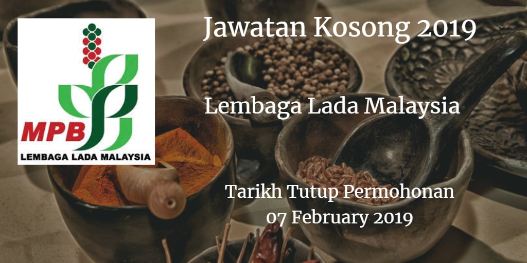Jawatan Kosong Lembaga Lada Malaysia 07 February 2019