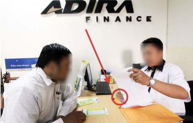 Kejahatan Karyawan PT. ADIRA FINANCE Beredar