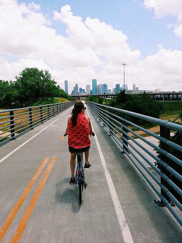 Houston Trendy in Texas Buffalo Bayou Park Linus Bike