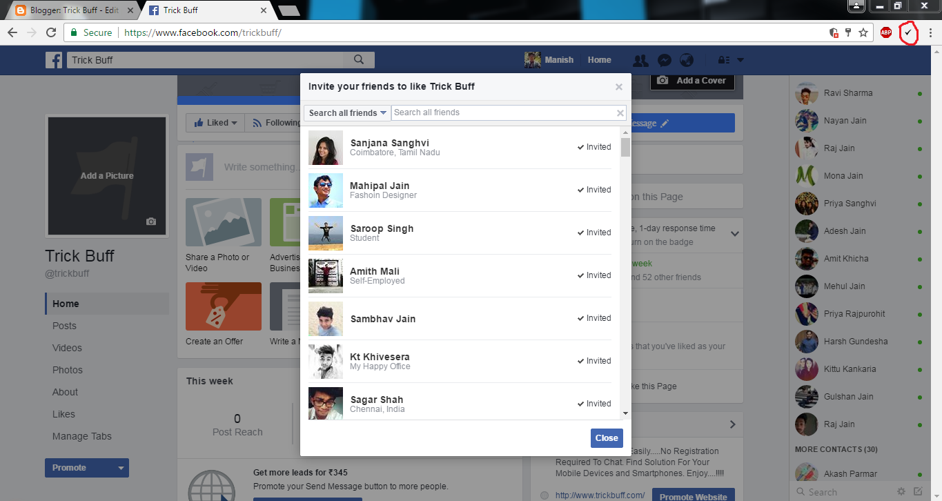 How To Invite All Friends Of Facebook To Like Your Facebook Page For