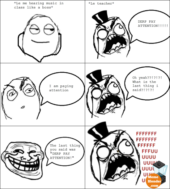 Group Of Funny Meme Trollface Swear