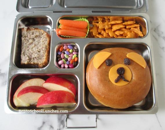 Bear bagel bento