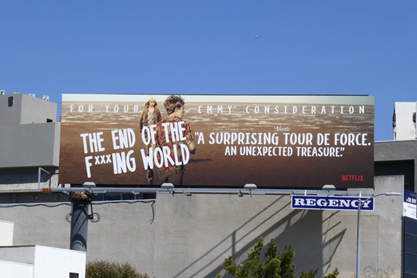 End of the Fking World 2018 Emmy FYC billboard