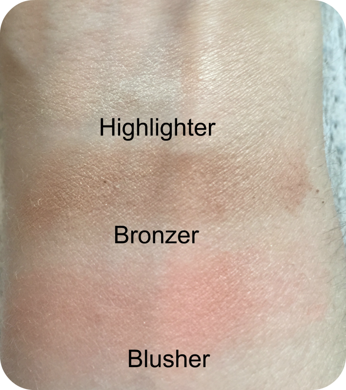 rimmel kate sculpting palette coral glow swatches