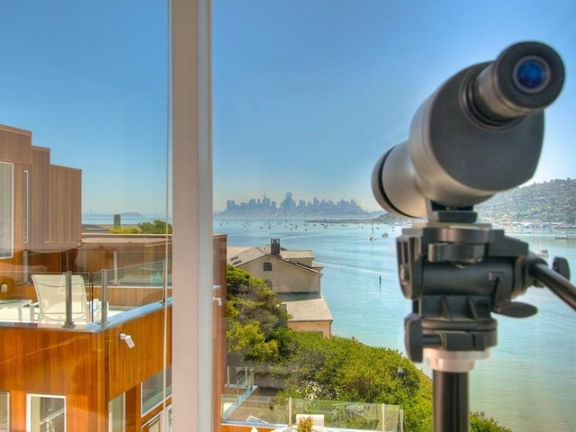 Photo of San Francisco skyline as seen from the house