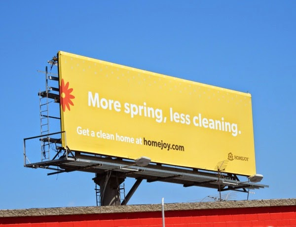 More Spring less cleaning Homejoy billboard