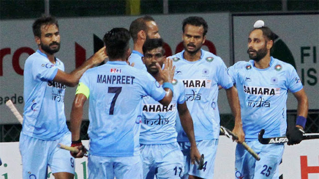 Indian hockey team.