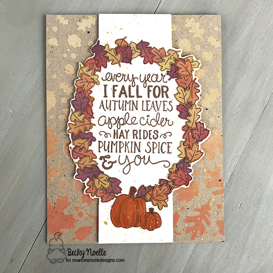 Every year I fall for autumn leaves by Becky features Falling Leaves and Fall-ing for You by Newton's Nook Designs; #newtonsnook