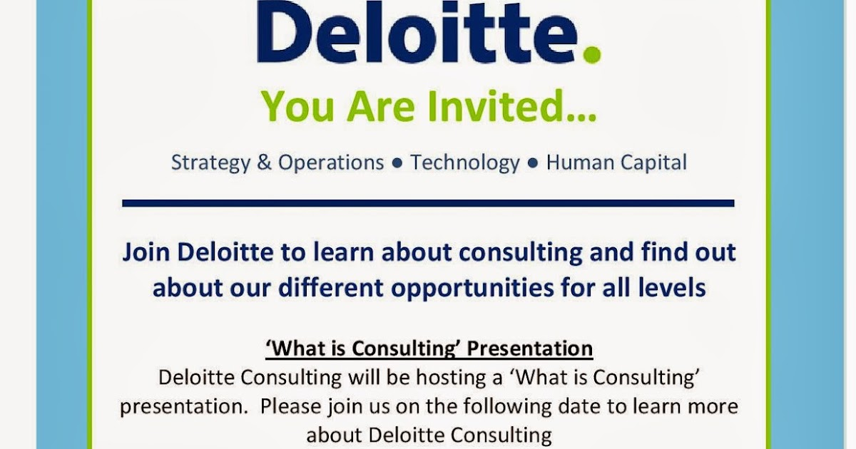 Deloitte Consulting Presentation | ML Blog