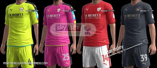 PES 2013 Barnsley Kits 2016/17