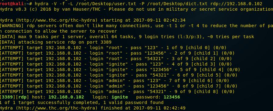 Penetration Testing on Remote Desktop (Port 3389)