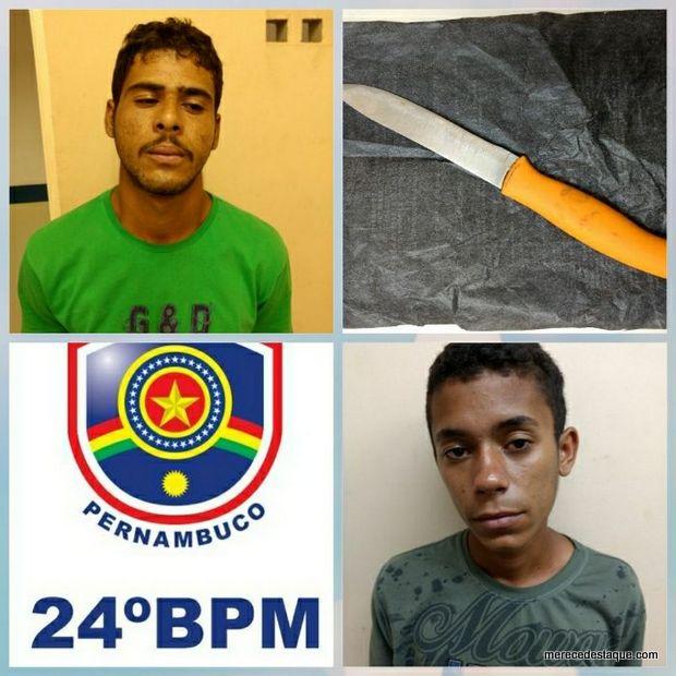 Polícias detém suspeitos com faca que tentavam praticar homicídio em São Domingos
