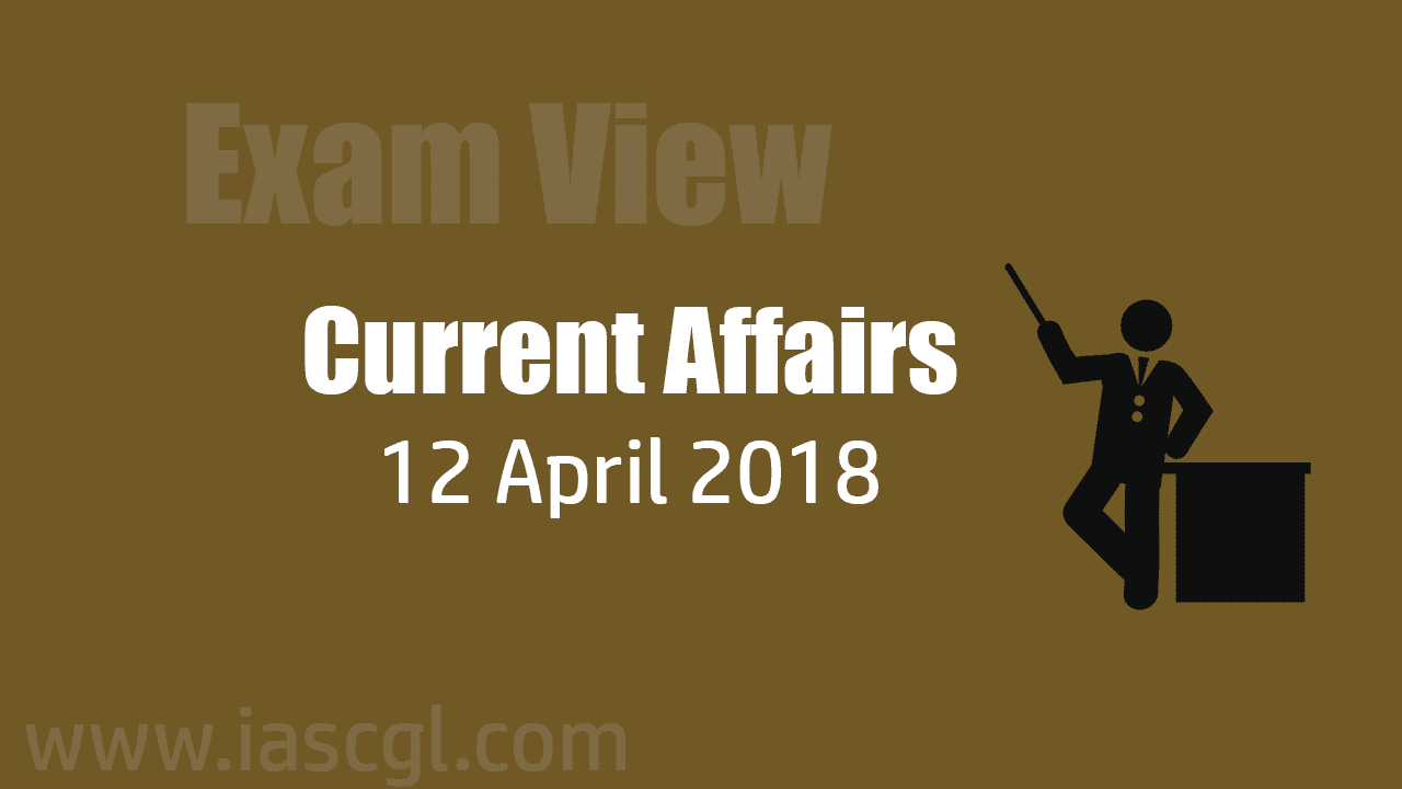 Current Affair 12 April 2018