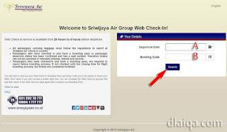 masukkan tanggal keberangkatan, kode booking, lalu klik Search
