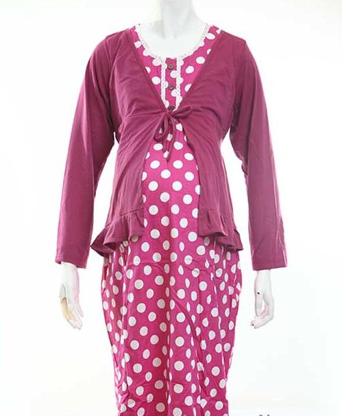 Trend Fashion Baju Hamil Batik Gamis Modis