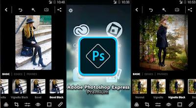 Tampilan Aplikasi Adobe Photoshop Express Premium
