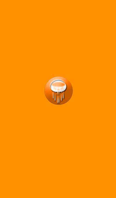 Mysterious orange jellyfish