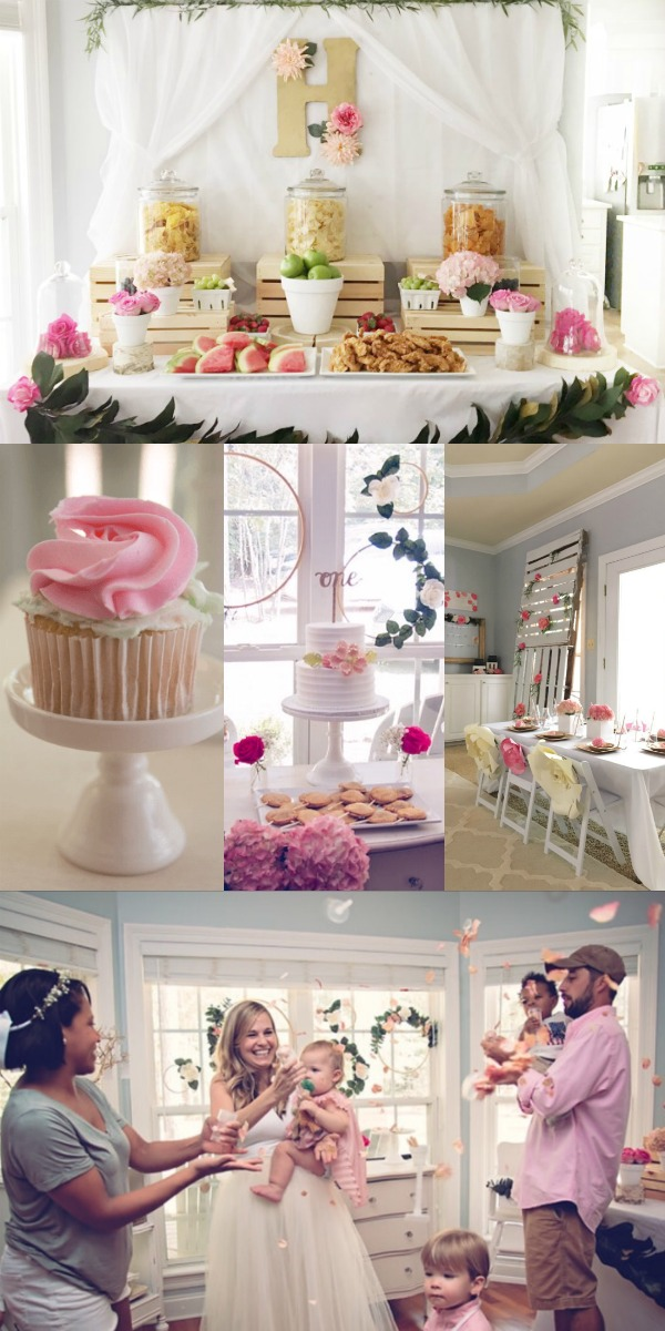 Cute 1st birthday for baby girl.