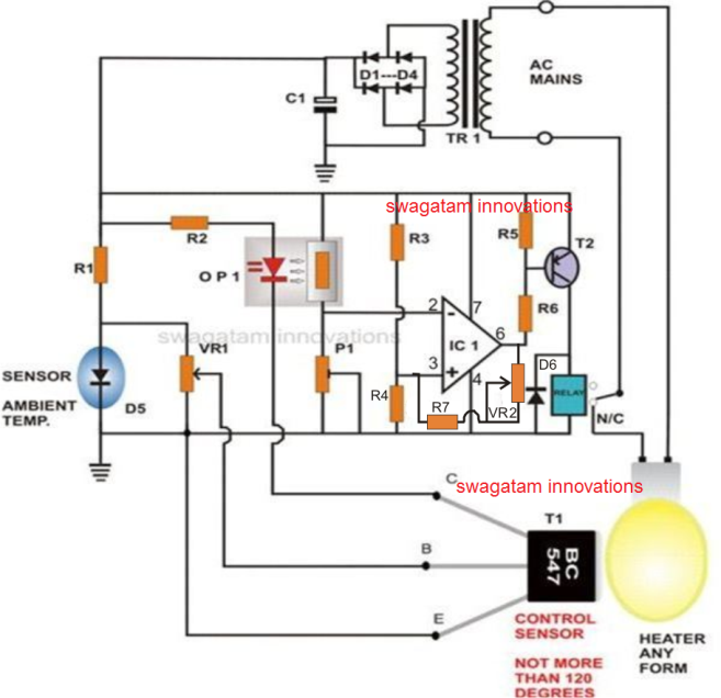 how to build a simple egg incubator thermostat rh homemadecircuitsprojects com
