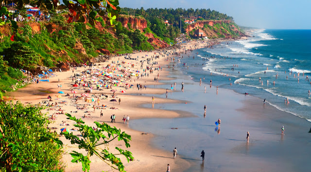 Varkala - One of the most picturesque seashores of Kerala