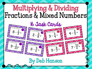 Multiplying and Dividing Task Cards: FREE! Plus, this blog post contains anchor chart ideas!