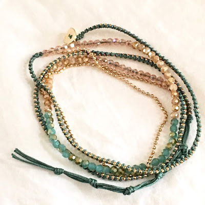 Crystal multi strand wrap bracelet or necklace from Mark August, Chatham, MA