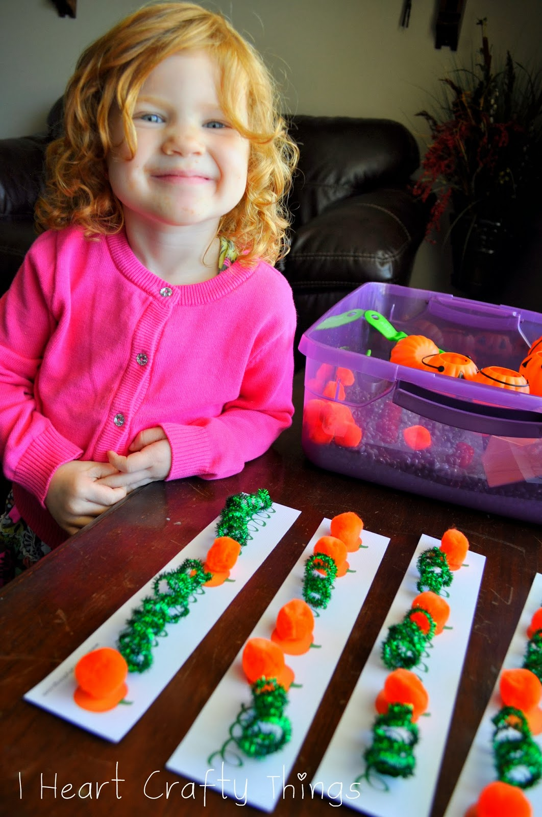 Pumpkin Pattern Worksheet For Sensory Bin