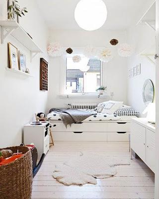 decoracion de cuarto minimalista blanco tumblr