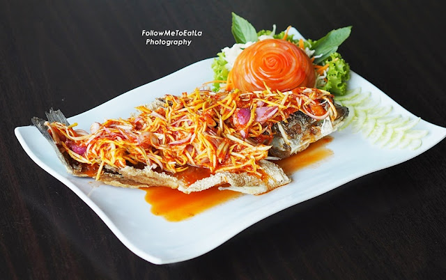 Deep Fried Talapia With Mango Sauce