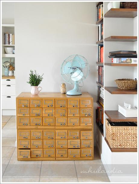 stare biblioteczne szufladki - przed / vintage library drawers - before