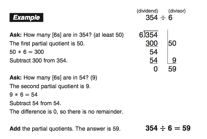 mrs. lynch & mrs. rodriguez: partial quotients homework