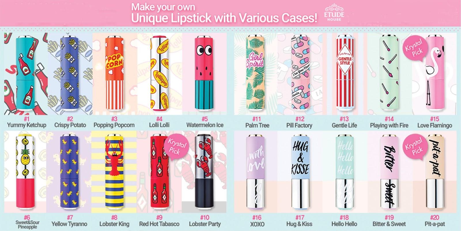 Etude House 20 Lips-Talk Colour, 20 Lips-Talk Cases -1036