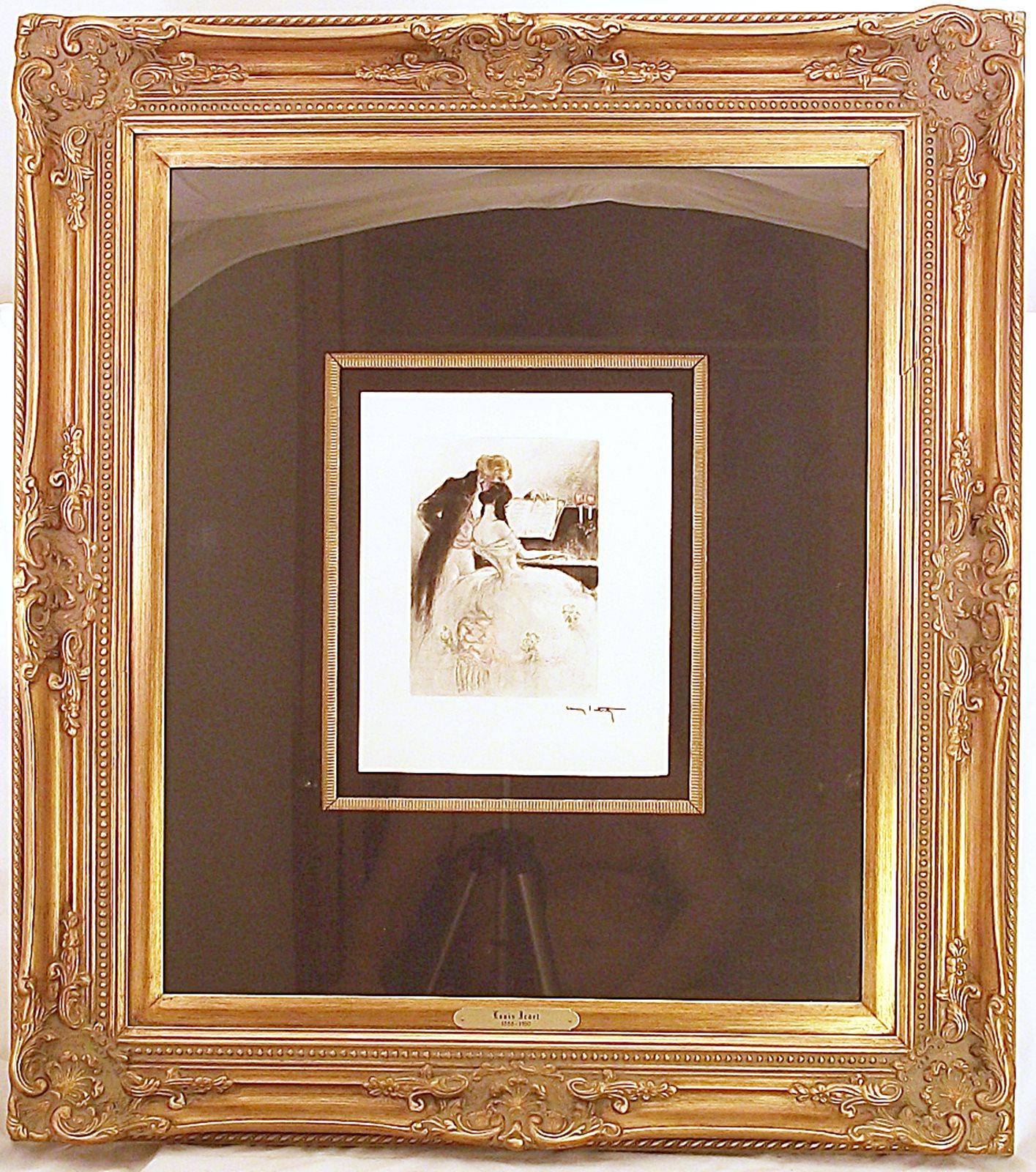 Kari & Larry Sales: Beautifully Framed Louis Icart 1938 Etching ...