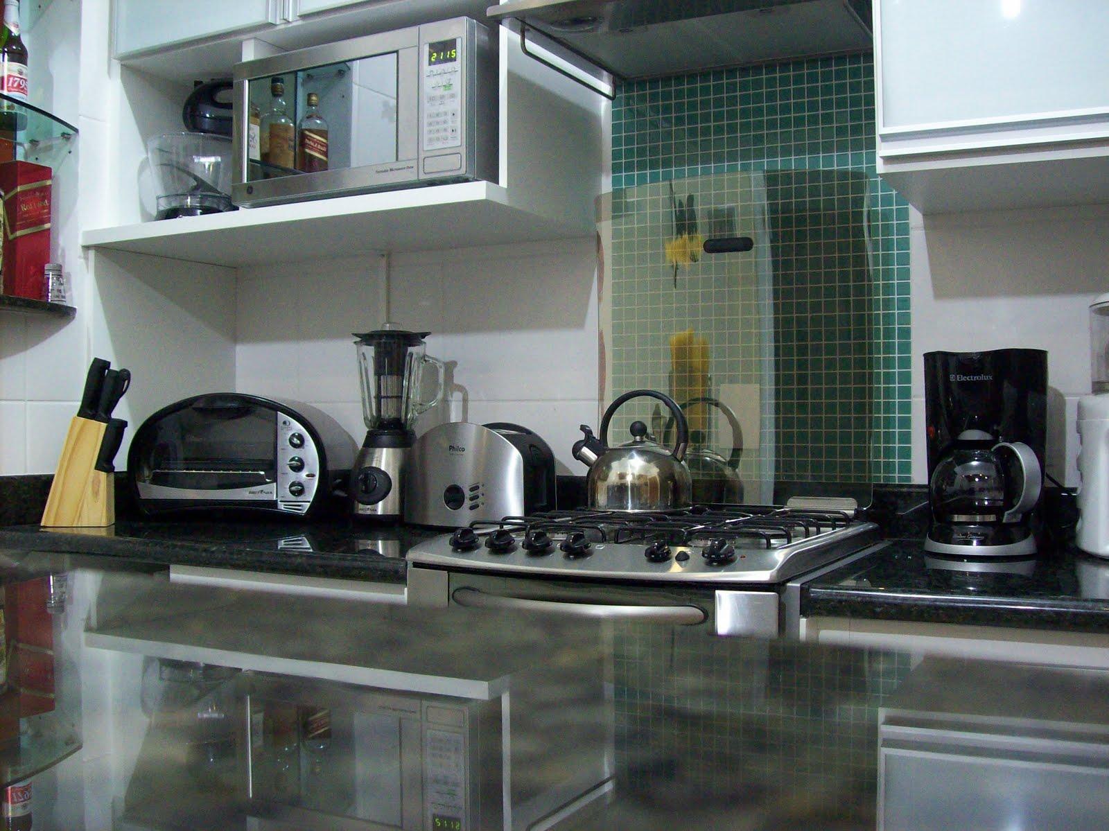 Aparador De Aliança Rommanel ~ Gostosa Reforma Revestimento Cozinha Parede Fog u00e3o