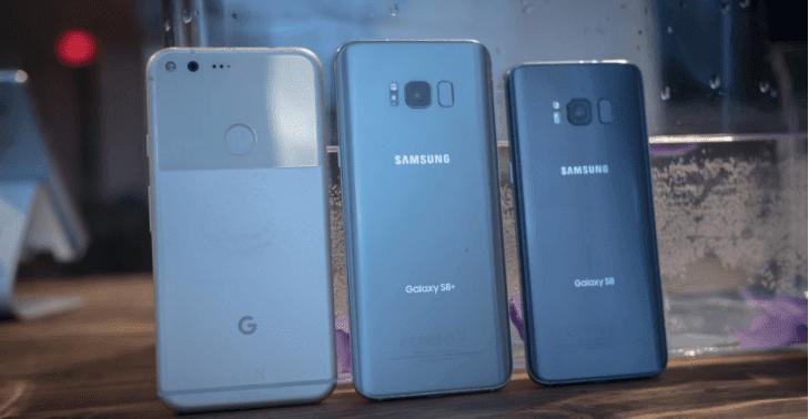 Galaxy S8, Google pixels