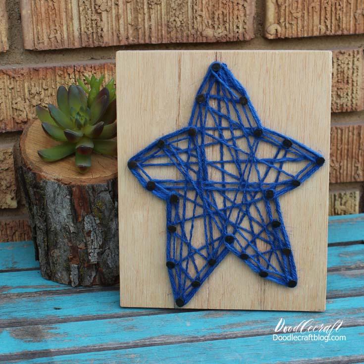 Patriotic String Art Star Craft Lightning